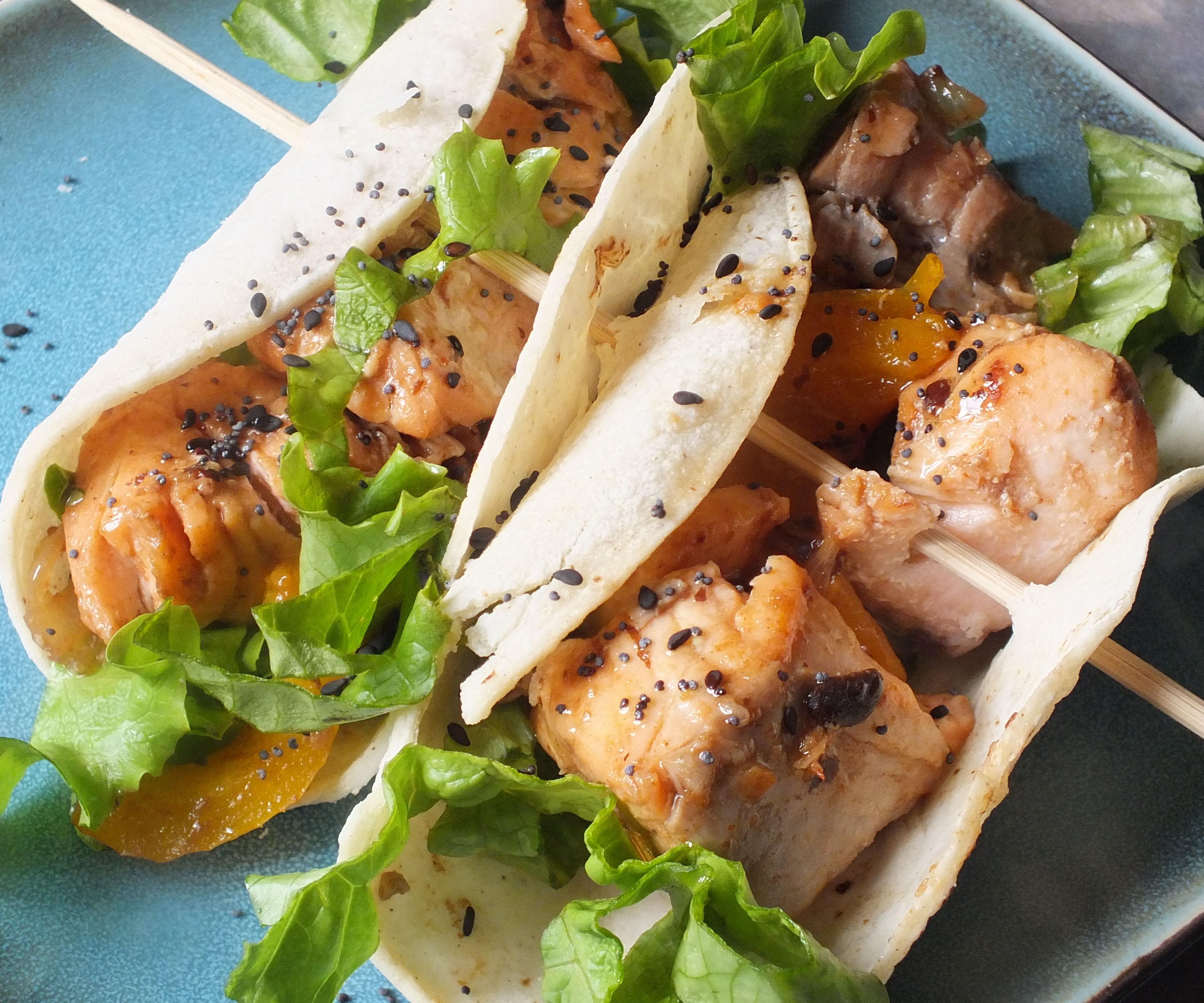 Asian/Mexican Salmon Taquitos