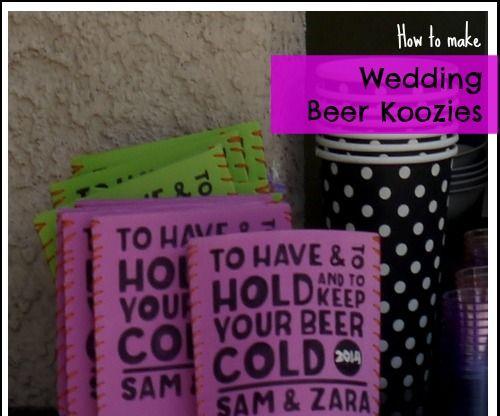 Wedding Beer Koozies