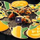 Halloween Cookies with Almond Icing