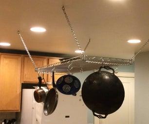 Kitchen Shelf Pot Rack