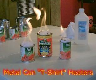 Metal Can (T-Shirt) Heater - Rolled Wick Heater - SHTF/Survival Heater
