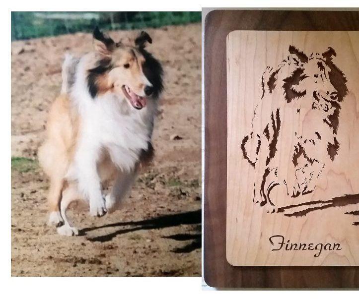 Remembering Finnegan: a Scroll Saw Stencil Portrait