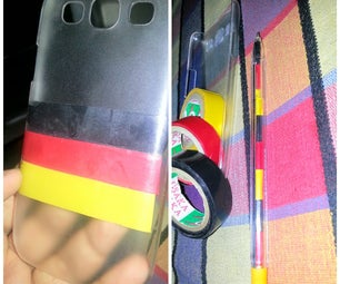 D.I.Y. FIFA'14 Germany Football Team Inspired Mobile Case and Pen