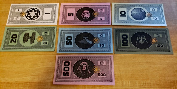 $15,140 Galactic Credits!  (Laser Cut Monopoly Money)