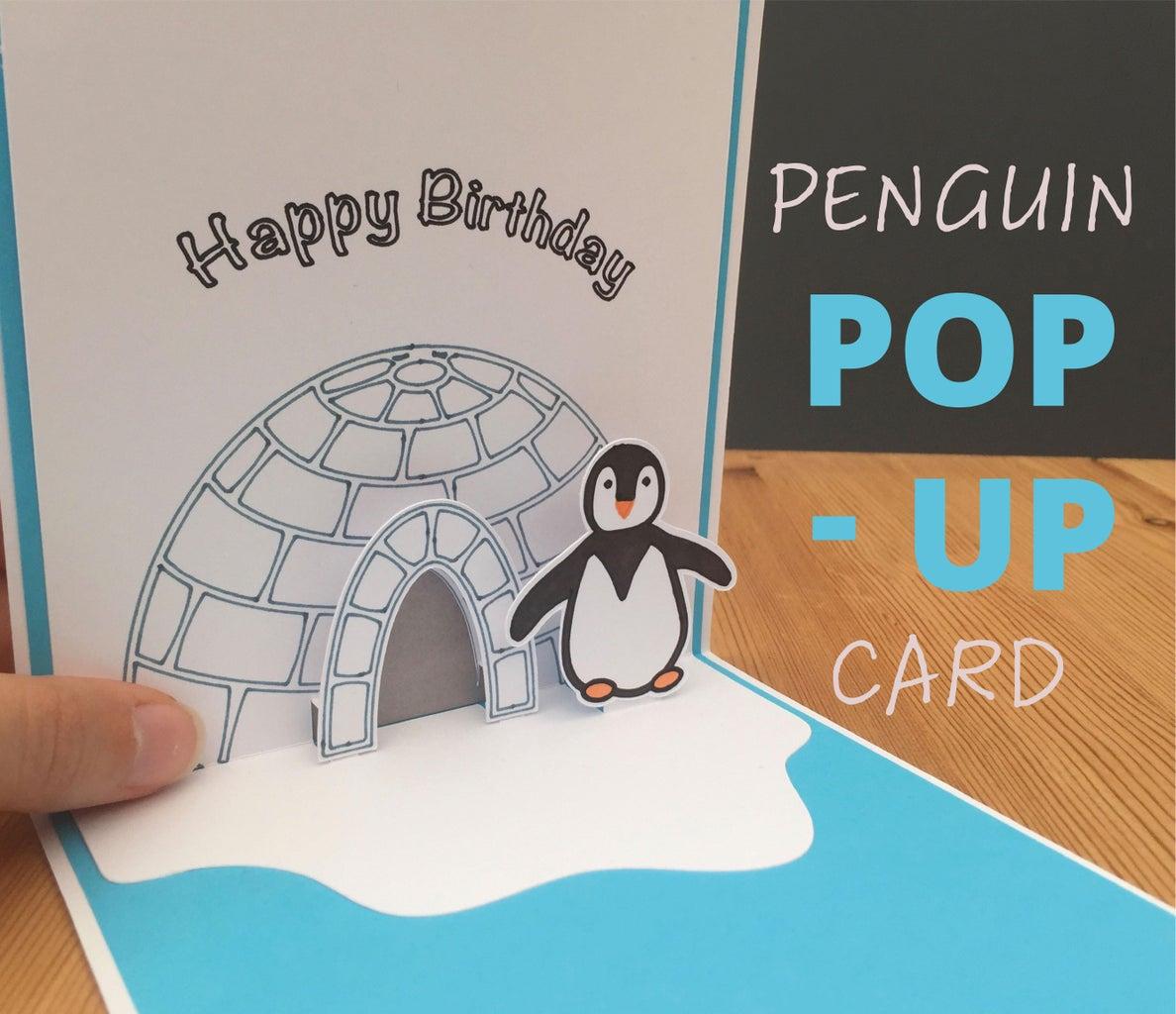 Pop-Up Penguin Card