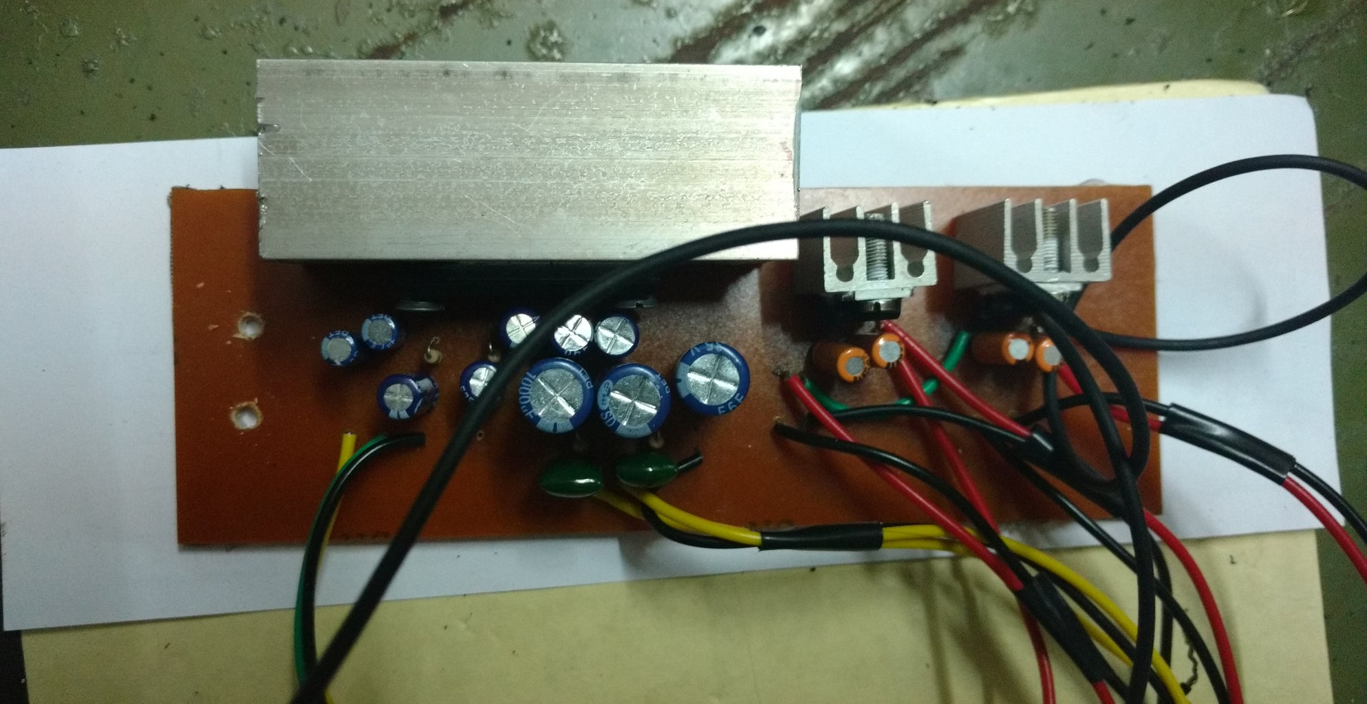 The Amplifier Unit Along With 7805 & 7812 Regulator IC