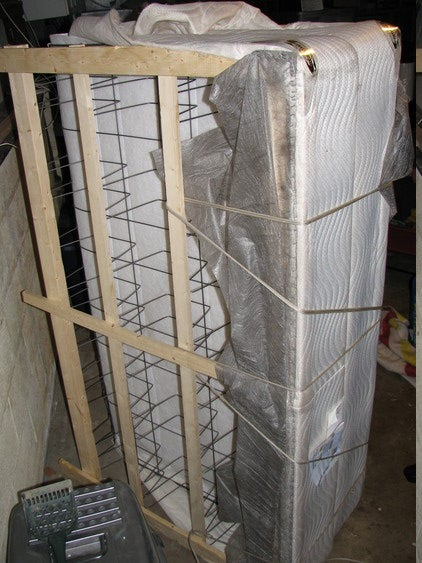 Cutting and Folding a Box Spring