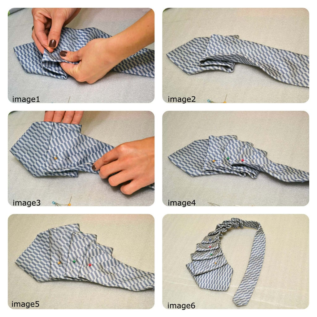 Pleat and Pin the Necktie