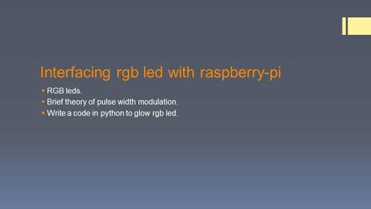 Interfacing RGB With Raspberry Pi