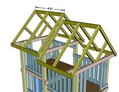 Build Upper Roof Framing