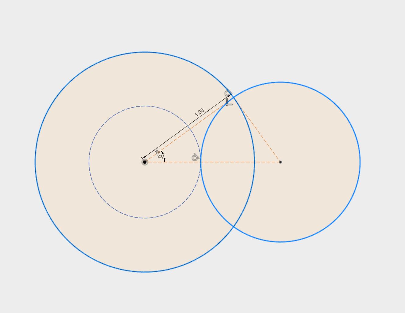 Diameters of the Geneva Wheel and the Drive Wheel