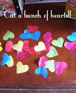 Tissue Paper Hearts Cut Out