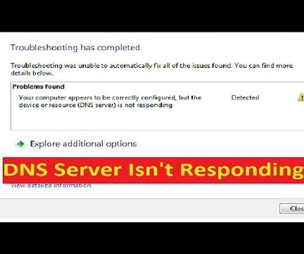 DNS Server Not Responding Error_[Fix]