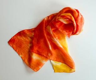 这个橘子要染色了!织物染画奇遇