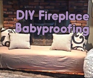 DIY Fireplace Baby-Proofing