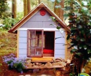 用100%的回收和废料建造一个超大的狗屋(或游戏屋)