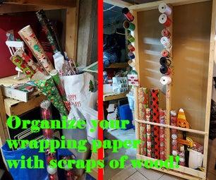 Gift Wrap Wall Organizer