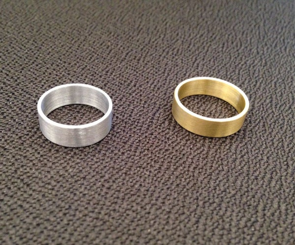 Custom Aluminum and Brass Rings