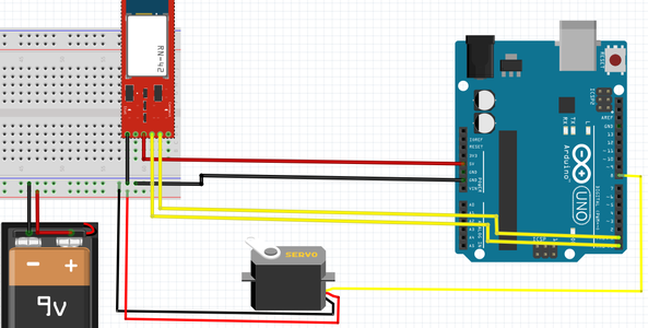 Wire the Servo and Bluetooth Module Up
