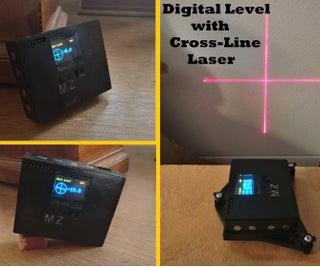 Digital Level With Cross-Line Laser