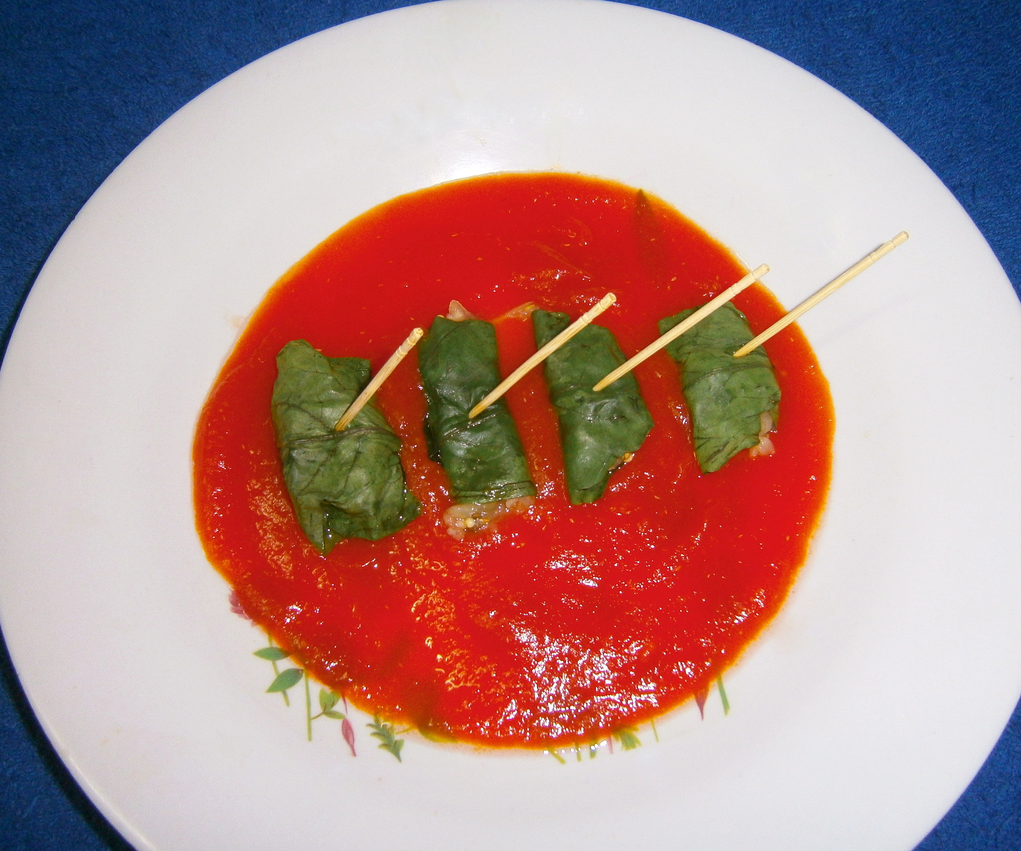 Spinach Rolls in Papaya Sauce (With Gathering Experience)