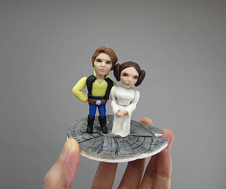 Star Wars Han & Leia Wedding Cake Topper