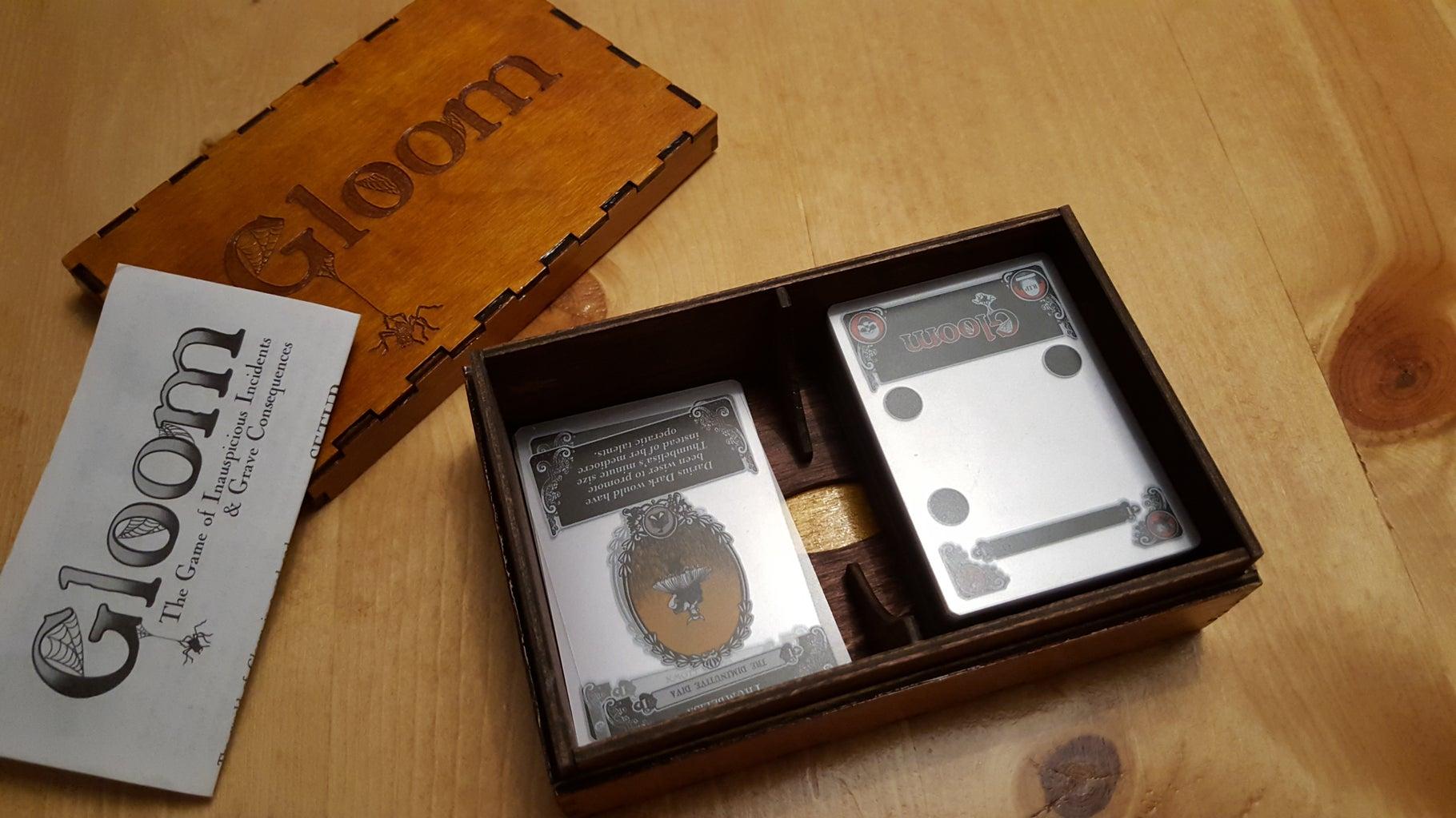 Laser Cut Card Game Box
