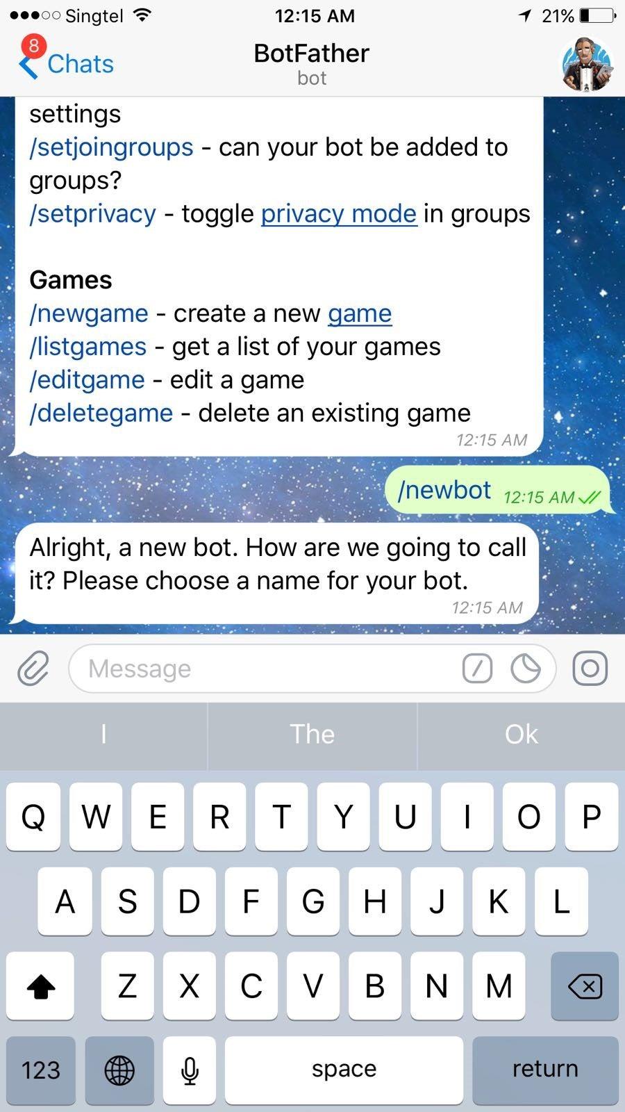 Set Up Telegram Bot