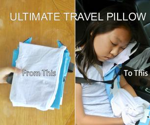 Compact DIY Travel Pillow