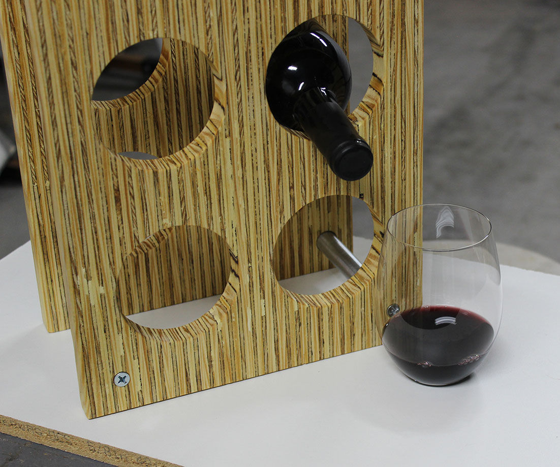Make an Industrial Wooden Wine Rack