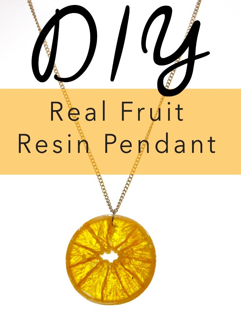 Dehydrated Fruit Resin Jewelry