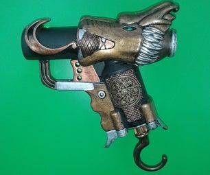 Steampunk Dragon-styled NERF Jolt