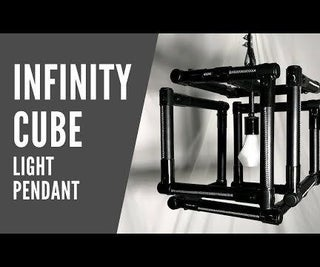 How to Make a No Weld Infinity Cube Light Pendant With Leather Accents