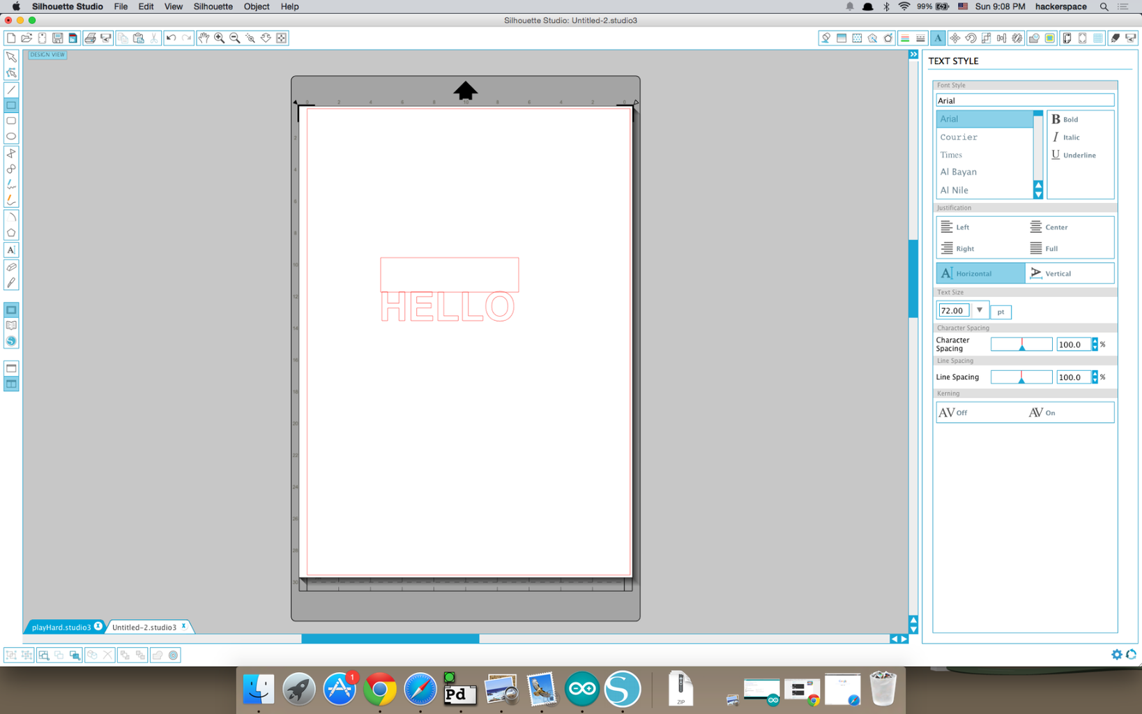 Draw a Rectangle on Top of the Text