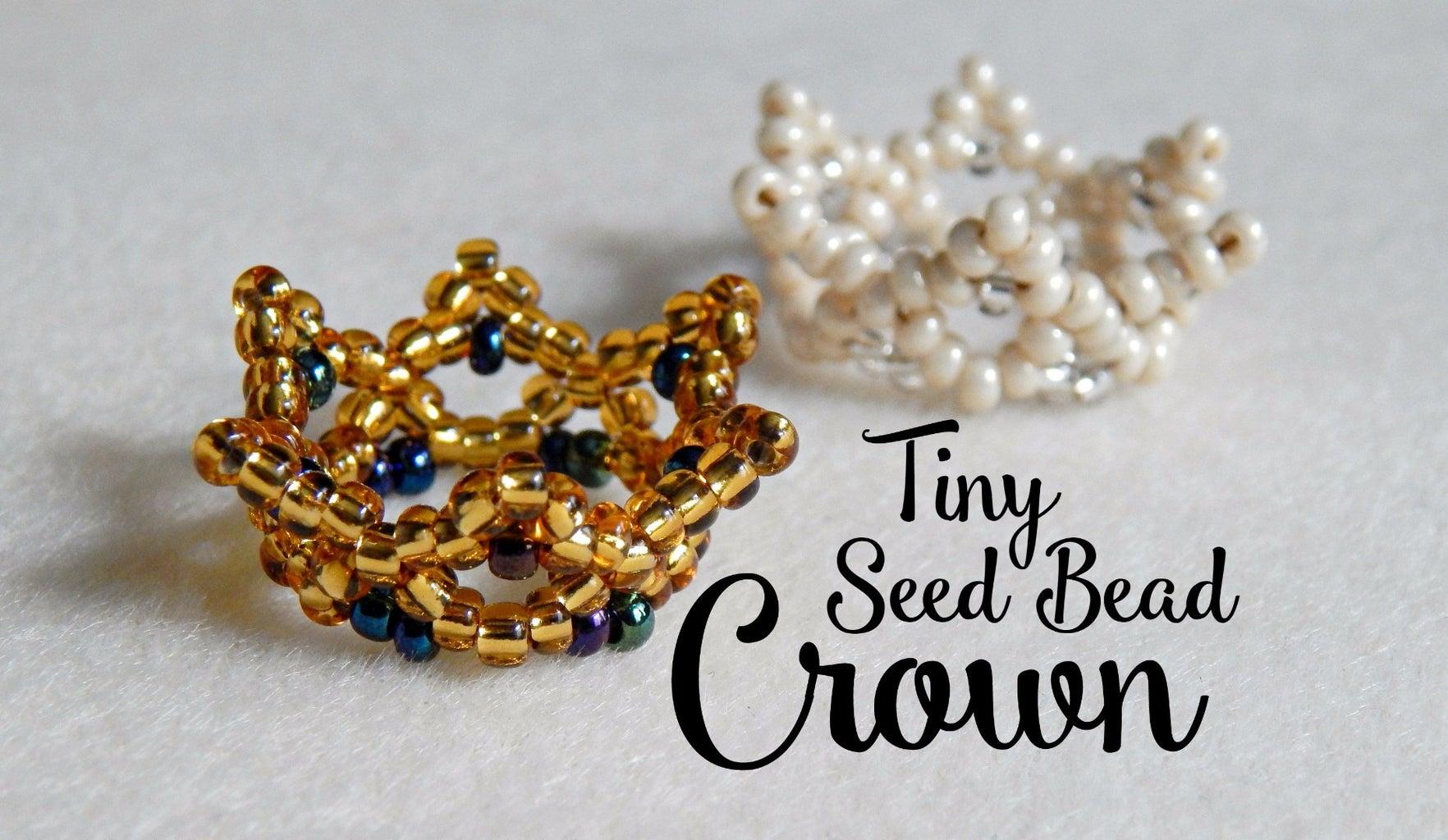 Tiny Beaded Crown ¦ the Corner of Craft