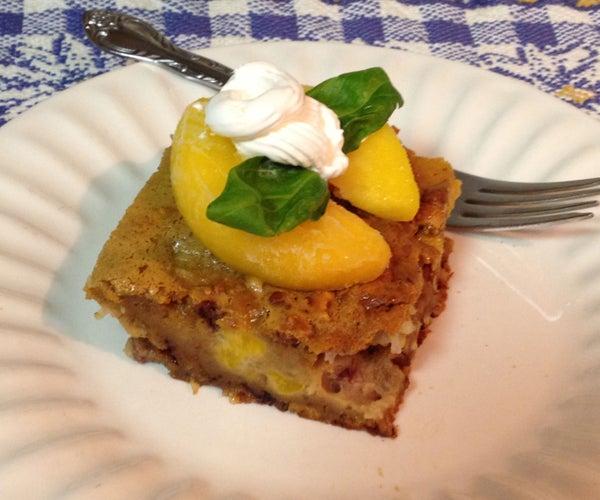 Peach and Pecan Cake