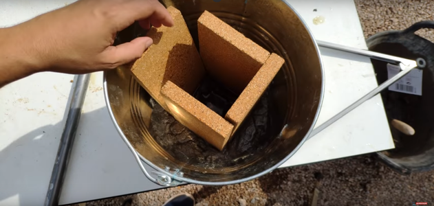 Mount the Brick Structure and Fill It With Concrete