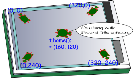 The Turtle Screen Is 320 Pixels Wide and 240 Pixels High
