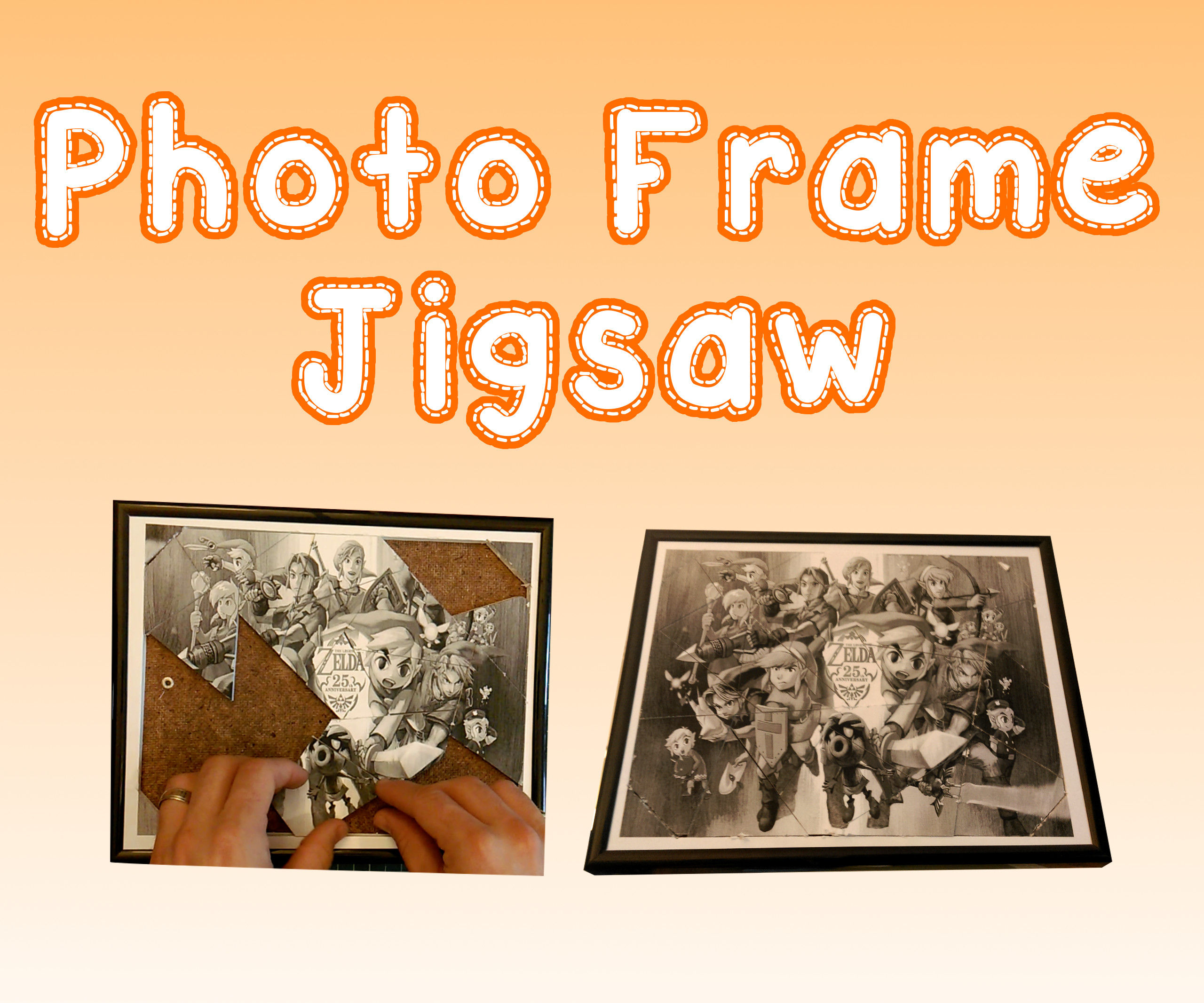 Turn any photo frame into a jigsaw puzzle