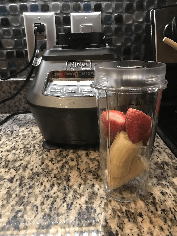 Place Fruit in Blender