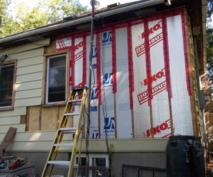 Adding Insulation to the Exterior of My House.
