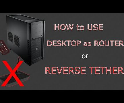How to use desktop as a wifi router