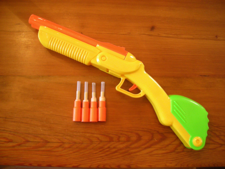 Shell-Loading Airsoft Gun from Buzz Bee Double Shot Dart Shotgun