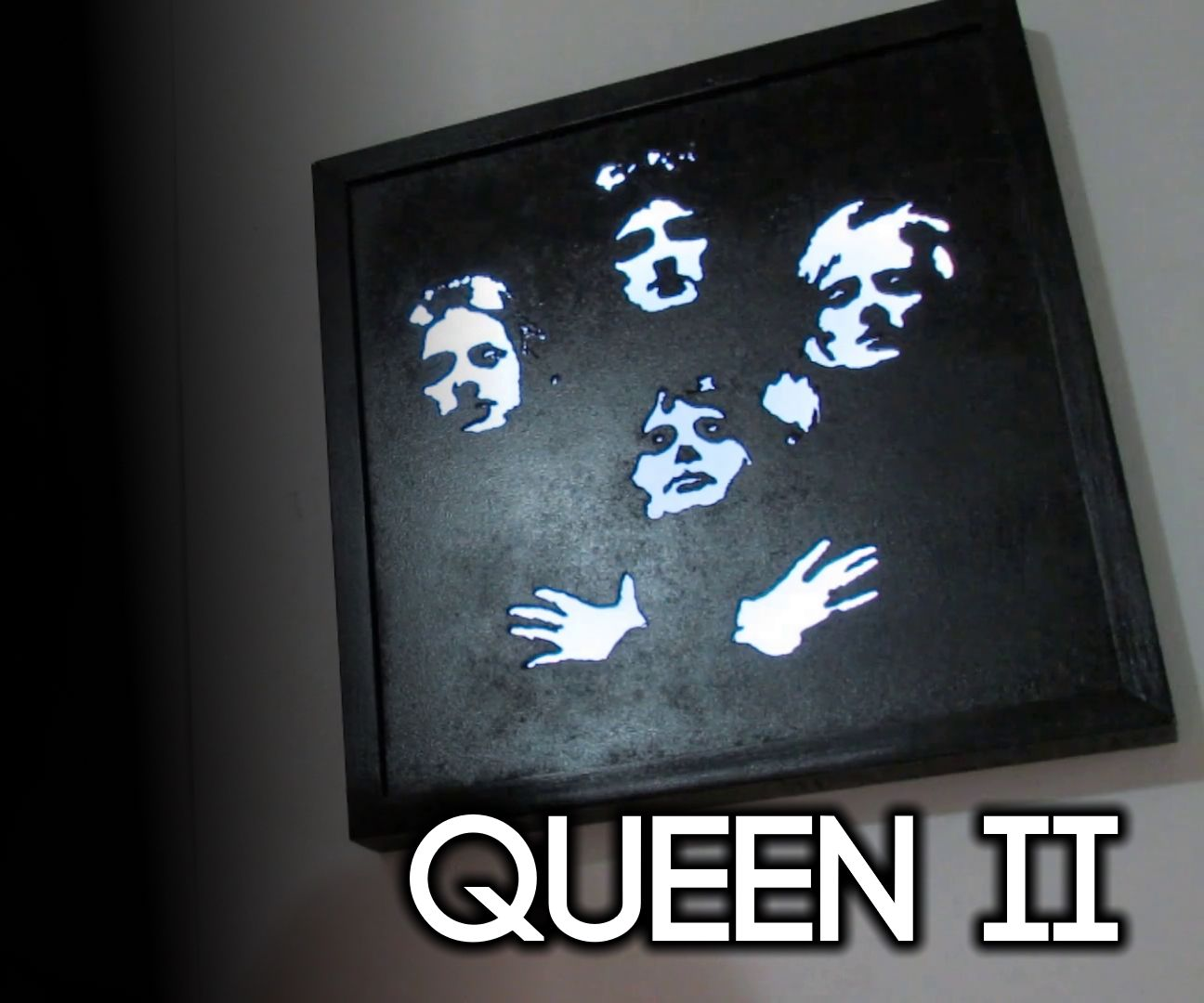 Queen Album LED Backlit Wall Art
