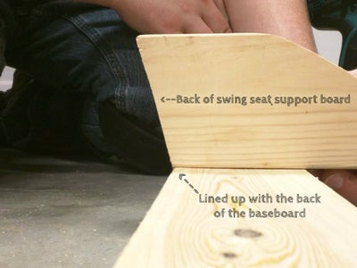 Attach Swing Seat Support Boards #1, #3 and #5 to Rear Swing Baseboard.