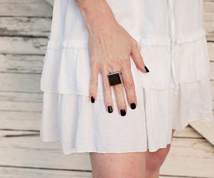 A DIY Stylish Ring Made From a Bathroom Tile