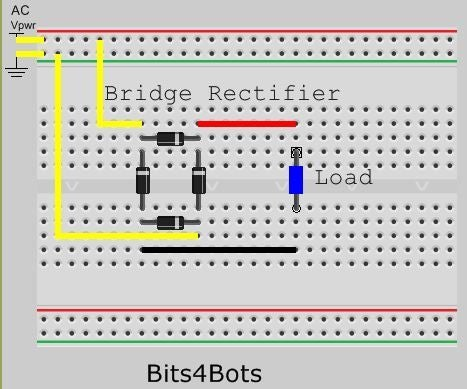 Make a Bridge Rectifier From Diodes