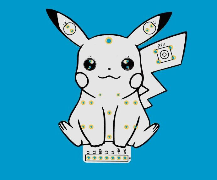 Earn 10 Free PCB Pikachu Arduino Module