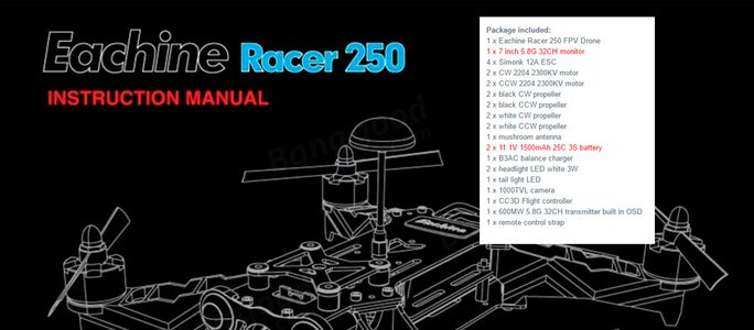 My Choice - Check All Parts - Kit Eachine Racer 250