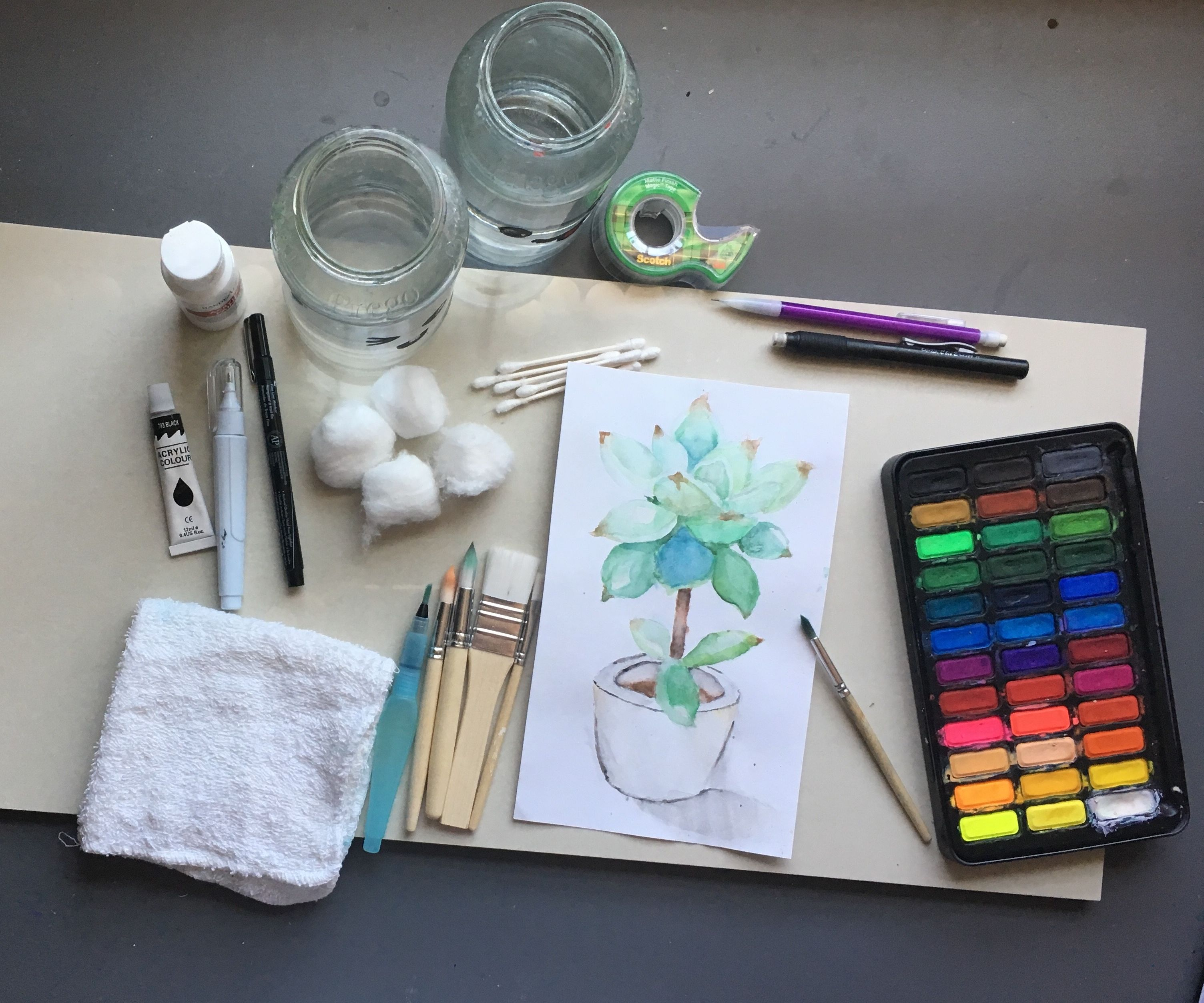 Poorman's Watercolors; Painting on a Budget